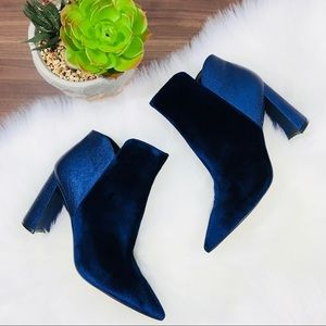⬇️ Marc Fisher Harper pointy toe blue Bootie